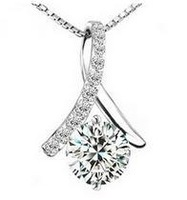 Free shipping MSF brand promotion AAA zircon 925 silver female pendant jewellery factory price 1pcs/lot