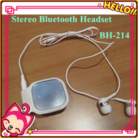 BH-214 Wireless Bluetooth Headset BH214 Stereo Bluetooth Earphone Headphone For iPhone Samsung Nokia With Retail Free Shipping