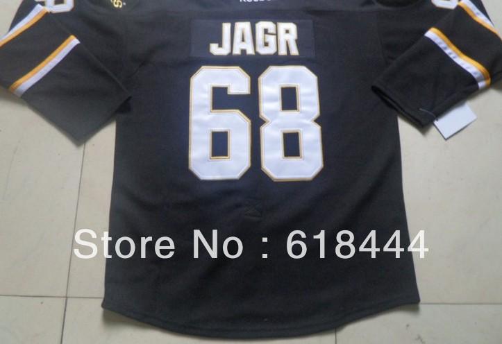 Free Shipping cheap china jerseys 2013 Men's discount vintage authentic ice Hockey Jersey dallas stars #68 Jaromir Jagr black(China (Mainland))