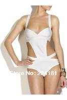 2013-Sexy Hollow Out Bandage Halter White Black Bikini HL Swimsuit