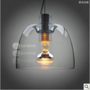 [Glisten Lighting]Free shipping Modern glass pendant lights E14 bulb apple lamp for dining room Contemporary lighting fixtures
