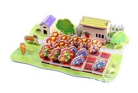 Free shipping ZILIPOO 3D Puzzle Model Toy/Farm, Children's Safe Non-toxic Foam+Paper Model DIY Jigsaw   373