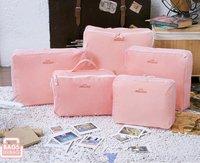 Free Shipping 2012 New Traveling Bag in Bag , Mesh pouch Nylon Organizer Bag (5pcs/set)big discount