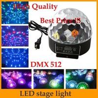 DMX512 Control Digital LED RGB Crystal Magic Ball Effect Light DMX Disco DJ Stage Lighting 90-240V EU plug