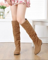 2014 winter female new all-match thick heel matte high boots slim boots
