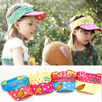 G1 New arrival, Lovely Polka Bear Applique Caps For Kid , can be used for summber, 5pcs/lot