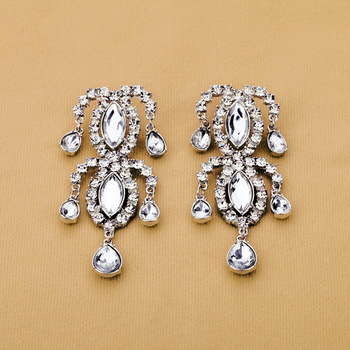 2013 New Fashion Clear Exaggerated Drop Earrings (Min Order $20 Can Mix)