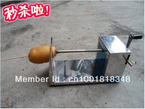 Free shipping-arrival manual Tornado potato machine, potato spiral cutting machine,potato cutter machine /potato chips machine(China (Mainland))