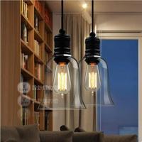 [Glisten Lighting]Free shipping Modern crystal bell glass pendant lights Dining room Contemporary lighting fixtures PL139