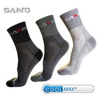 Men's thick CoolMax quick drying breathable hiking socks moisture wicking CoolMax sports socks for men