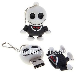 Professional supplier Skull Jack shape usb flash memory disk 4GB 8GB(China (Mainland))
