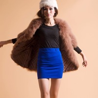 FREE SHIPPING 2013 New Style Fashion Ostrich wool fur turkey wool half sleeve outerwear winter fur wool turkey overcoat
