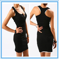 Female hot Sale  Women's Dress Free Size Sleeveless strap tank dress buckle skirt