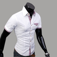 freeshipping  shirt male 100% cotton male short-sleeve shirt male shirt commercial cs08p45 casual shirt