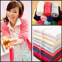 ON SALE !2013 new fashion Women girls Sweet Candy Color Crochet Knit Blouse Sweater Cardigan M01free shipping