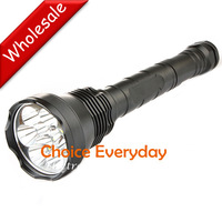 3 pcs/lot! 9x CREE XM-L T6 LED Super Bright 11000Lm LED Flashlight Torch + 3X 26650 Battery + Charger.