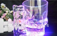 HOT Selling 400ml-- LED skull cup /Big Beer Mug / Wine Glass Novelty Cup with Retail package free shipping 20pcs/lot