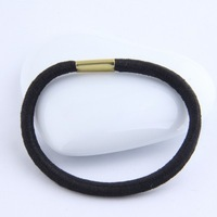 Cheapest !!! Fashion korean 5cm Black Elastic hairbands jewelry  Free shipping