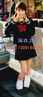 School uniform girls sailor suit black cos uniform navy suit