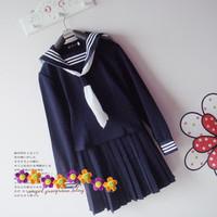 Class service customize preppy style sailor suit school uniform school uniform long-sleeve sailor suit school uniform