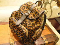 Free shipping 2013 trend leopard print women's student backpack school bag vintage laptop bag backpack female