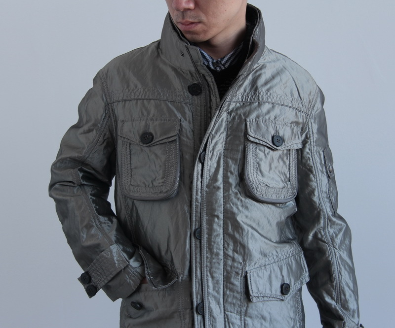 Opshacom ! grey rabbit fur hunting wadded jacket paragraph(China (Mainland))