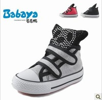детская обувь 2013 autumn children shoes female child fashion metal color child casual shoes children high sports shoes Искусственная кожа