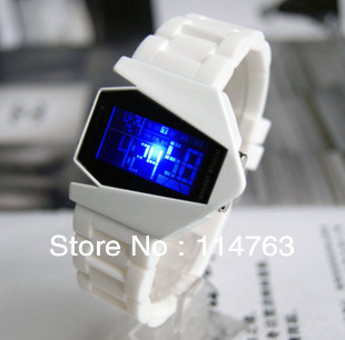 2013 New Arrival Fashion Electronic Luminous Fighter Aircraft Watches One pic Free Shipping(China (Mainland))
