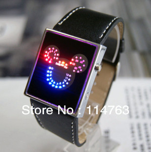 2013 New Arrival Fashion Electronic Luminous Watches One pic Free Shipping(China (Mainland))