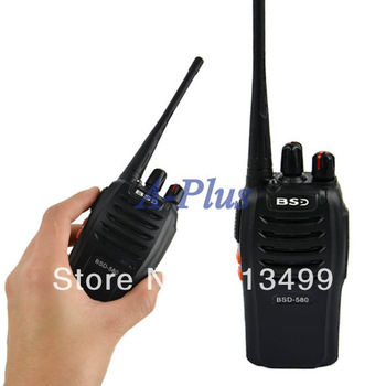 Portable 2 Way walkie talkie BSD-580 BAOFENG Freq 400-470MHz VHF/UHF FM Transceiver Radio 10335