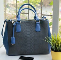 2013 designers brand handbags  embossed crocodile pattern bag vintage messenger bag  women's PU leather briefcase bag