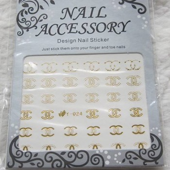 Nail art accessories diy multicolour watermark stickers water transfer printing applique metal watermark stickers y series