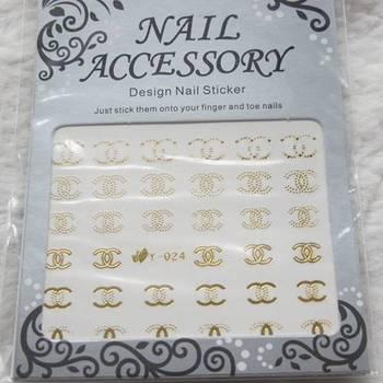 Nail art accessories diy multicolour watermark stickers water transfer printing applique metal watermark stickers y series