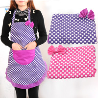 Min. order is $15 (mix order) Fashion bow princess cartoon waterproof canvas aprons bibs 2694