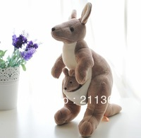 Free shipping high quality NICI 25cm cute lovely kangaroo with baby toys best price plush toy brown color kids toy birthday gift