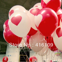 Red love 12-inch printed latex balloons in South Korea exported to European and American fashion creative wedding supplies