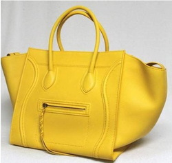 Hottest Leather luggage Phantom Square Tote Boston bag yellow handbag Design branded(China (Mainland))