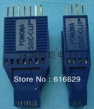The PLCC the clip test socket SOP test clip SOJ ( 8 pin / 16 pin )
