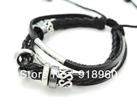 Gimo vintage casual male fashion male accessories jazz black male bracelet color silver double/free shipping