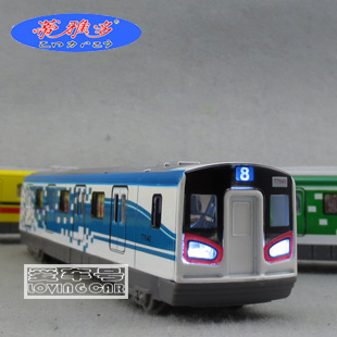 Vocalization plain high speed subway alloy train head ferri- open the door model toys