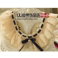 Pearl lace rhinestone false collar all-match collar necklace fashion