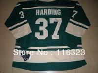 Wholesale-Men's  Josh Harding  #37 Green Hockey Jersey Size:48~56+Mix Order, Free Shipping
