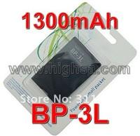 10pcs/lot OEM 1300mAh BP-3L Battery BP 3L Battery Use for Nokia 603 701 303 Lumia 710 610 etc Mobile Phones