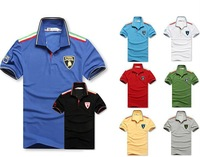 men fashion brand Lamborghini polo Tee shirts short sleeve free shipping