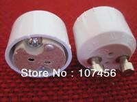 Free shipping 5pcs GU10 Plug to MR16 MR11 GU5.3 Socket Light Bulb Halogen Adapter Base