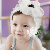 Baby chiffon flower child headband princess hair accessory baby hair bands baby hair accessory