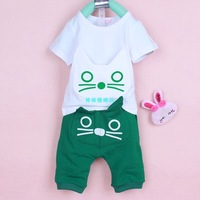 New! Fashion Kids Male female child clothing child infant summer short-sleeve sportswear set 1 2 3