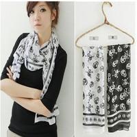 2015 silk chiffon skull scarf silk scarf Y91W14