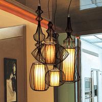 1 set =4 piece free shipping Brief restaurant pendant light big nobility pendant light bird cage pendant light lighting
