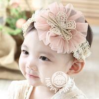 Big lace yarn flower child headband princess hair accessory baby hair accessory hair band